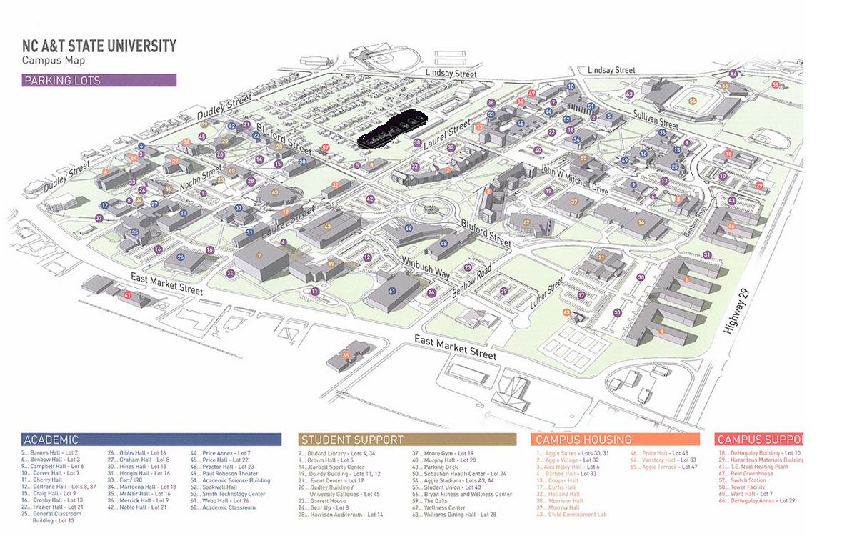 nc a t campus map A T Student S Death Won T Be In Campus Crime Stats Wfmynews2 Com nc a t campus map