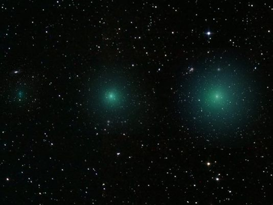 Twin comets to make close approach to Earth