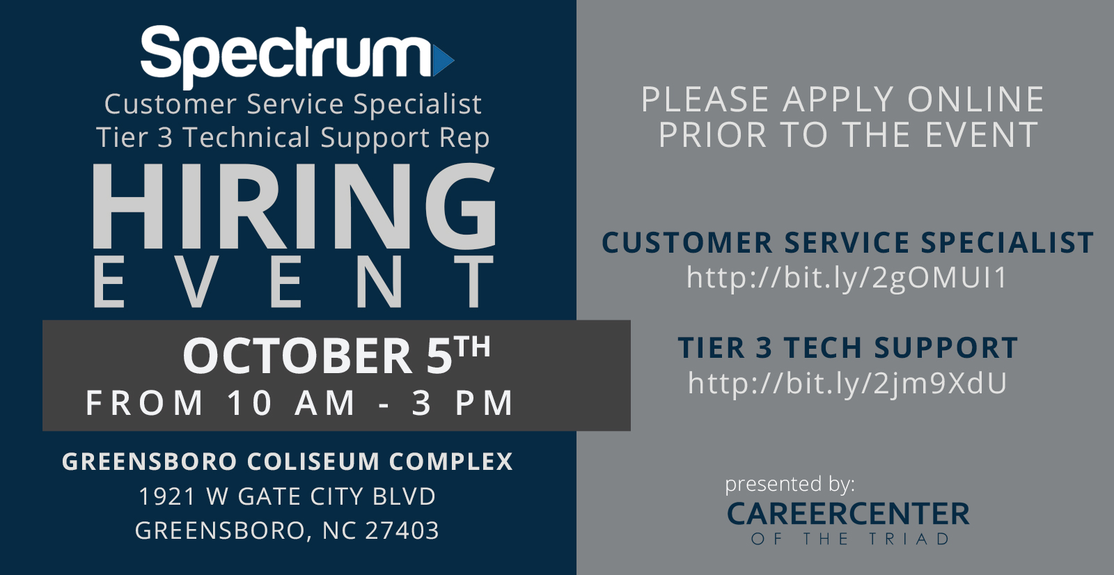 spectrum holding job fair for over 100 positions in greensboro october 5 fb ad 1507052090163 11297529 ver1 480494045 online advertising specialist were